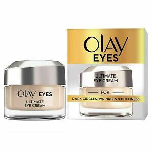 Olay Eyes ultimate eye cream for dark circles wrinkles & puffiness 15ML UK
