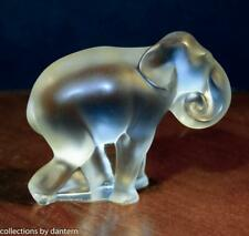 Lalique Crystal Baby Elephant Cub Figurine Timore
