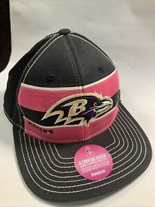 Baltimore Ravens Reebok Hat ON Field Sideline Crucial Catch NEW Stretch Fit