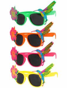 Hawaiian Novelty Sunglasses Tropical Floral Fancy Dress Hawaiian Beach Party