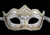 Maschera Di Venezia Dorata Lusso Columbine Per Punta Con Treccia Iceland 22492