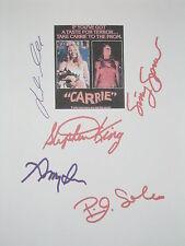 Carrie Signed Movie Script X5 Stephen King Sissy Spacek John Travolta reprint