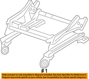CHRYSLER OEM Power Seat-Bottom Base Tracks Adjuster 68175311AC