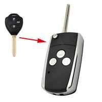 Flip Remote Key Shell fit for Toyota Rav4 Corolla Camry 3Bt Replace Keyless Case