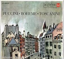 Toscanini: Puccini: La Boheme / Albanese, Peerce, Valentino - LP Rca LM 6006
