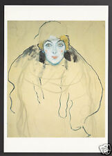 GUSTAV KLIMT Head Of A Woman 1918 ART ARTWORK MODERN CARD POSTCARD