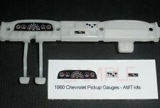 1960 CHEVROLET FLEETSIDE PICKUP GAUGE FACES for 1/25 scale AMT KITS