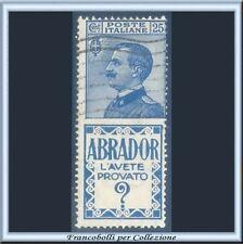 1924 Italia Regno Pubblicitari Abrador cent. 25 azzurro n. 4 Usato