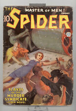 Spider 2/1936 vol. 8 # 1 in G-VG GGC - torture (pulp)