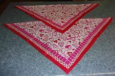 New listing 2 Brand New Heart Design Dog Bandanas For Dog Rescue Charity