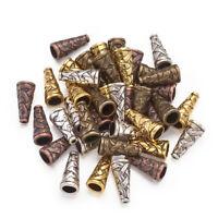 40pcs Tibetan Style Alloy Cone Bead End Caps Terminators 18x8x8mm Jewelry Making