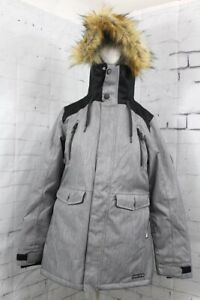 686 Women's Ceremony Insulated Snow Jacket Small, Grey Diamond Texture New 2020
