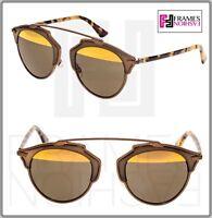 5cf35751592 CHRISTIAN DIOR SO REAL Matte Bronze Havana Metal Mirrored Sunglasses  DIORSOREAL