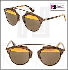 f11ad3cfeddb9 Christian Dior so Real Matte Bronze Havana Metal Mirrored Sunglasses  DIORSOREAL