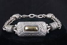 Bracelet Center Has Gold Plating 8377 Brighton Silver P. Vintage Etched Design