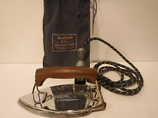Vintage HandyHot Folding Travel Iron With HandyPack W/Pouch Chicago Electric
