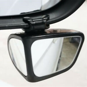 Car Right Side Mirror & Blind Spot Mirror Wide Angle Mirror Rotation Adjustable