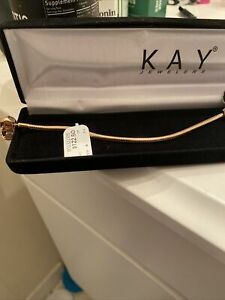 AUTHENTIC PANDORA 14k ROSE GOLD PLATED MOMENTS SNAKE CHAIN BRACELET 9""