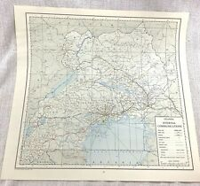 More details for 1967 vintage map of uganda africa internal communications road railway airport