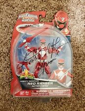 Autographed Power Rangers Super Megaforce Mighty Morphin Red Ranger Action Hero