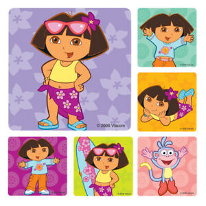 Dora Stickers x 6  Birthday Party Supplies Favours Loot Dora the Explorer Party