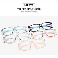 Fashion Men Women Square Full Frame Clear Lens Plain Glasses Eyewear Eyeglasses