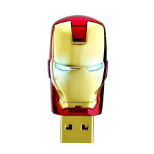 16Gb Red Gold Super Man Iron Mask Memory Stick Novelty USB Flash Drive