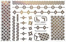 Finger Nail Art Sticker Wasser Flash Tattoo Gold Nagelsticker UV 20Teile WG4 WOW