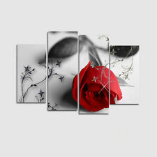 Red Rose Romantic Flower Oil Painting Print Canvas Picture Wall Image Art Decor