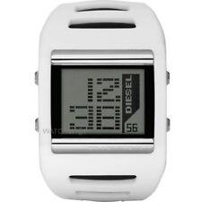 DZ7224 New Genuine DIESEL Digital Alarm Chronograph White Silicon Watch £125