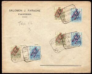 Marruecos - Edi o Telégrafos 1/2(3) - Sobre con 3 sellos 5cts y 10cts. + ...