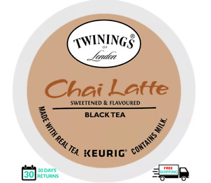 Twinings Chai Latte Black Tea Keurig K-cups YOU PICK THE SIZE