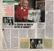 Coupure de presse Clipping 1991 Gilles Grangier la cuisine au beurre (1 page1/2)