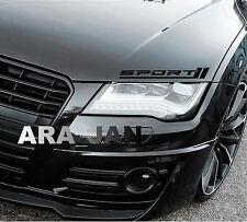 SPORT Vinyl Decal sport car sticker racing sticker hood emblem logo BLACK Pair