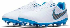 Nike JR Legend 7 Academy Football Boots AH7254 107 White/Blue UK 4_5 EU 36.5_38