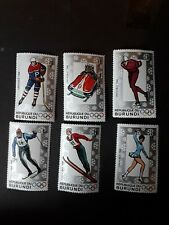 BURUNDI  2 Sets of Stamps 1964 & 1968 Winter Olympics unmounted Mint