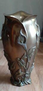 Quality Reproduction Art Nouveau Vase Bronze Calla Lilly Design