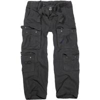 Brandit Mens Pure Vintage Police Combat Trousers Security Work Cargo Pants Black
