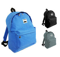 Mens Boys Girls School Travel Backpack Canvas Rucksack College Laptop Work Bag