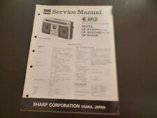 Original Service Manual Schaltplan  Sharp GF-8585H/HB/E