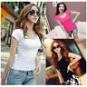 Fashion Women Slim Fit Cotton Crew Neck Short Sleeve SHIRT Casual T-Shirt Tops