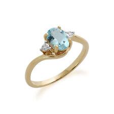 Topaz Irradiation Yellow Gold Fine Gemstone Rings