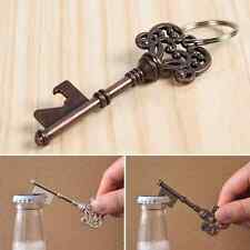 Vintage Key Shaped Bottle Opener Ring Keyring Keychain Metal Beer Fobs Bar Tool