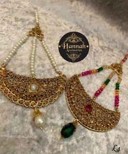 Pakistani/Indian Style Party Wear Hydrabadi Jumar Pasa Head Piece  5 Colours
