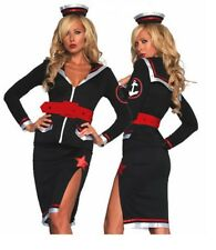 Last One S UK 10 Sultry Pin Up Sailor Nautical Cosplay Costume Leg Avenue