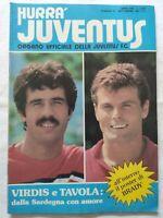 HURRA' JUVENTUS N. 9 SETTEMBRE 1981 + POSTER LIAM BRADY VIRDIS TAVOLA TRAPATTONI