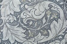 """WILLIAM MORRIS CURTAIN FABRIC Pure Bachelors Button Print"""" 1.2 METRES BLACK INK"""