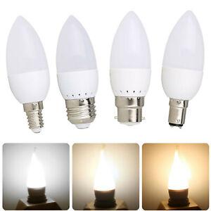 3W LED Candle light Bulbs E14 E27 B15 B22 220V 2835SMD Replace 25W Halogen Lamp