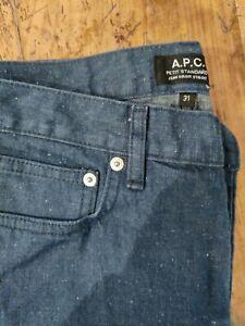 APC Flecked Navy Denim Jeans Size 31