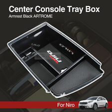 Center Console Tray Box Armrest Storage Box Black ARTROME for KIA 2016-2018 Niro